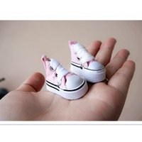 Wholesale 2015 Cute Canvas Shoes cm for BJD Dolls New Style BJD Doll Shoes Accessories Assorted Colors Toy Shoes Pair