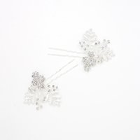 baby accessories uk - Silver Leaves Hairpins Bridal Hair Accessories Cheap Baby Pins For Head Piece UK Accessories For Brides Hair Accessories
