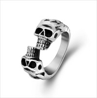 fashion jewelry dropship - Hot Fashion Unique Skull Men Ring in L Stainless Steel Rings Punk Biker Jewelry High Quality Nice Gift Dropship R484