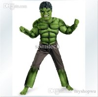 banner animations - Animation Hulk Bruce Banner Full set Cosplay Costume Muscle set and Deluxe set Performance Wear Costume for Child