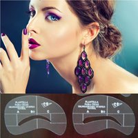 Wholesale Fancy Styles Eyebrow Grooming Stencil Kit Template Make Up Shaping Tools DIY