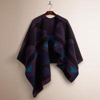 Wholesale 2015 Christmas Gift Autumn Winter Brand Blanket Shawls Cashmere Wool Woman s Designer Scarves Poncho Prorsum Cape Bufandas Mujer