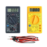 Wholesale LCD Electronic Digital Voltmeter Ammeter Multimeters AC DC Meter Tester