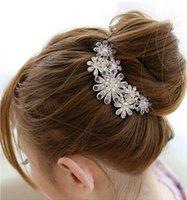 Wholesale diamond alloy are seven flower comb comb Sun Flower Pin