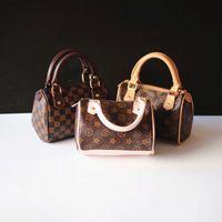girls handbags - Retro Handbag Kids PU Classic Designer Tote Handbags for Girls Mini Bags Children Messenger Bag Pint Handbag Coffee K5083