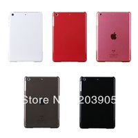 Wholesale 100pcs colorful transparent ultra slim Clear Crystal Back Hard Case For Ipad Mini