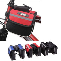 Wholesale New Outdoor Sports Cycling Mountain Road MTB Bicycle Bike Frame Saddle Bag Pannier Front Tube Bags Double Sides Red Blue Black