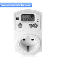 Wholesale New Smart Thermostat Plug for Controlling Heating Cooling Temperature Controller Thermostat Plug EU with LCD Display