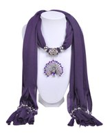 Wholesale WishCart 2016 New Fashion Popular Cotton Scarf With Pendant Necklace Scarves Jewelry Women Brand Spring Scarf Pendants