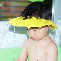 Wholesale adjustable infant shampoo cap bath cap Baby shower shampoo waterproof cap hat Bathing Shower Cap Hat Wash Hair Shield hat cap a DHL free