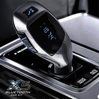 car bluetooth modulator - 2016 New X5 Bluetooth Handsfree FM Transmitter Car Kit MP3 Music Player Radio modulator Adapter Work with TF Card For Smartphone