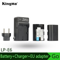 Cheap KingMa Battery (2-Pack) and Charger for Canon LP-E6, LP-E6N for EOS 5D Mark II, 5D Mark III, 6D, 7D, 7D Mark II, 60D, 60Da, 70D