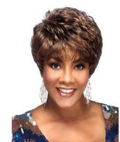Wholesale High temperature wire wig Ms Short curly wig sw0232