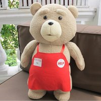 Plush ted - 2015 Movie Teddy Bear Ted Plush Toys In Apron CM Soft Stuffed Animals Bear Plush Christmas Gift Dolls MYF090901 Frozen Minion