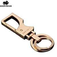 Wholesale BISON DENEIM Metal Key Chain Male Hanging Buckle Business Key Chain Gift Box Car Key Chain