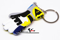 Wholesale nterior Accessories Key Rings new VR46 Valentino Rossi took the moon and motorcycle gloves motorcycle key chain key ring Ke