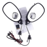 Wholesale Electric Motorcycle Bike Rear view Mirror MP3 FM Radio Speaker motor parts rearview car view mirror