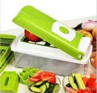 Wholesale 12 set Vegetable Fruit Multi Peeler Cutter Chopper Slicer Kitchen Cooking Tools Shredders Slicers For Salad