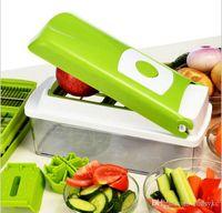 wholesale plastic fruit - 12 set Vegetable Fruit Multi Peeler Cutter Chopper Slicer Kitchen Cooking Tools Shredders Slicers For Salad