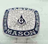 Wholesale New arrival amazing blue lodge masonic championship ring with velvet ring box and free express shipping