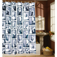 Wholesale WaterProof Marilyn Monroe Pattern Home Bathroom Shower Curtain cm NVIE order lt no track