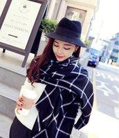 designer wool scarves - Winter Wool Tartan Satin Scarf Plaid Blanket Scarf New Designer Unisex Acrylic Basic Shawls Women s Infinity Scarves