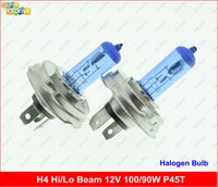 Wholesale One pair Diamond vision H4 Halogen headlamp Fog Light bulb Hi Lo beam P45T Super White K V W KKK