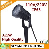 Wholesale 220V V W LED Garden Light Spike Outdoor Lawn Lamp Light IP67 Waterproof LM W