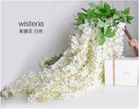 1,6 metro de comprimento consideravelmente Silk Artificial Flower Wisteria Vine Rattan para decorações da festa de casamento Bouquet Garland Ornamento Início DHL livre