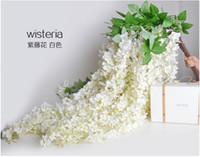 Дешевый Цветы гирлянды-1.6-метровый Очень искусственного шелка Цветок Глициния Vine ротанга Для свадьба украшения Букет Garland Главная орнамент DHL свободной