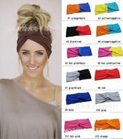 Wholesale 30pcs New lady headband fashion yoga sports elastic hair band lady wig accessories ladies hair accessories
