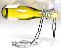 wine holder - 500pcs Floating Magic Chain Wine Bottle Holder Alcohol Champagne Illusion Rack Stand