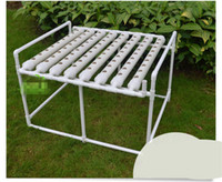 Wholesale DIY Hydroponics system NFT with tubes of net cup Nutrient Film Technique NFT PVC pipe plant pot plant nursery pot x100x70cm