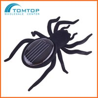 Wholesale Black Legs Solar Spider funny Realistic Puzzle Games Robot Christmas Birthday gift Educational toys for children