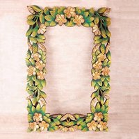 asia picture - New Thai hand painted flowers home decor handicrafts carved picture frame wedding gift dressing up frame