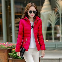 Cheap Women Cotton short paragraph Best Fashion Hooded slim padded