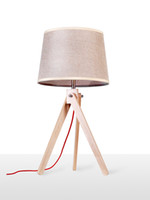 al por mayor tela de color marrón claro-Venta al por mayor-EMS tabla libre E27 lámparas de escritorio contemporáneo Lámparas Junto con lino color marrón cortina de la tela Tabla Estudio de iluminación LBMT-FL