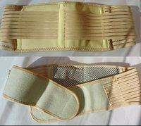 best lumbar support - Beige Tourmaline Magnetic Therapy Belt Lumbar Back Waist Support Brace Double Banded Adjustable Pad Best Quality