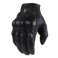 Wholesale MOGE guantes full finger Leather gloves Breathable motorcycle Street Car road racing motorcycle gloves Size M L XL