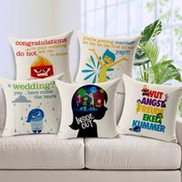adult anger - Cartoon Cute Inside Out Cushions Pillows Covers Emotions Joy Sadness Fear Disgust Anger Cushion Cover Decorative Linen Cotton Pillow Case
