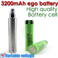 Cheap Top quality eGo 3200 mAh Variable Voltage huge capacity battery 3200mah vs ego II 2200 mAh vapen for electronic cigarettes ego mods atomizer