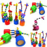Bébé jouet en bois de bébé Developmental Dancing Standing Rocking Giraffe Toy Gift 1pcs