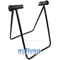 Wholesale Good Quality steel tube Folding Bicycle Bike Cycling Quare Showing Stands Holder Storage Black