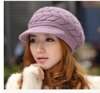 Wholesale Korean Version Spring and Winter Gorro Cap Lady s Fashion Drape Delicate Women Hats Solid Color for woman caps diamond snapback