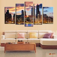 Environmental friendly oil ink artwork picture - Hot Sell Panel Art PaintingThe City Night View Modern Home Wall Decor Canvas Picture Canvas Print Cheap Paintings China Canvas Artwork
