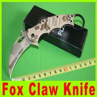 Cheap Fox Camouflage Claw Karambit Folding blade knife gear EDC Pocket Knife hunting knife camping knife Tactical utility hiking knives 729X