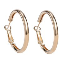 Wholesale New Big Size Items K Gold Plated Vintage Hoop Dangle Earrings Basketball Wives Fashion Jewellery Gift For Trendy Women