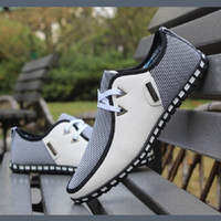 Wholesale New Fashion Simple Ultralight Flattie Breathable Casual Shose Lace Men Shoes British Style Non slip Soles Sport Shoes ZJ16 S05