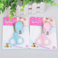 Wholesale Newborn baby nail clippers baby safety scissors nail clippers suit infant baby nail scissors colors G238