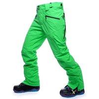 Wholesale REE SHIPPING fashion men and women snowboard pants Unisex skiing winter cotton pant man ski trousers